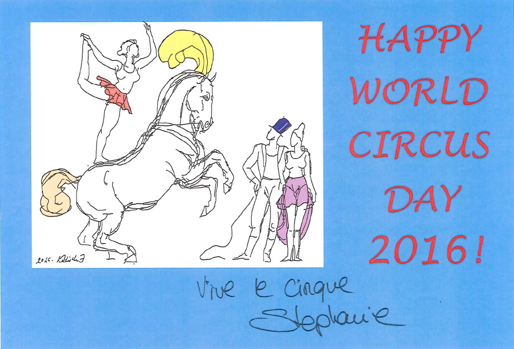 World Circus Dag greeting card